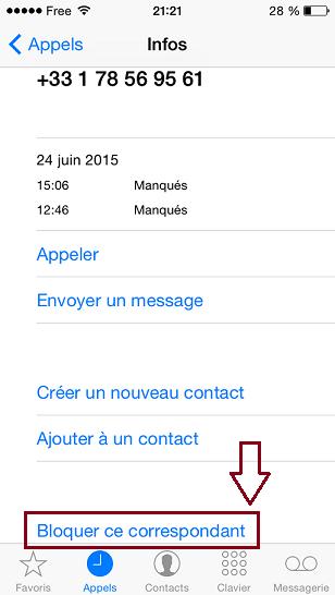 Bloquer un numéro sur iphone et android